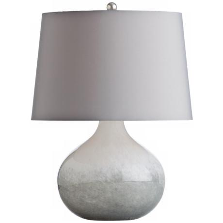 Arteriors Home Sully White Spattered Cased Glass Table Lamp