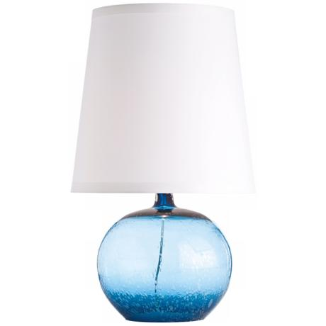 Arteriors Home Radko Pacific Blue Glass Buffet Lamp