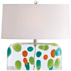 Arteriors Home Tara Dot Blown Glass Table Lamp