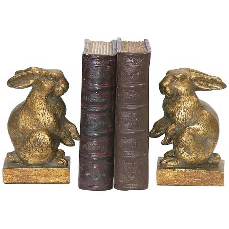 Set of 2 Baby Rabbit Bookends