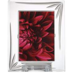 Kathy Ireland Royal Wailea 5x7 Etched Crystal Photo Frame