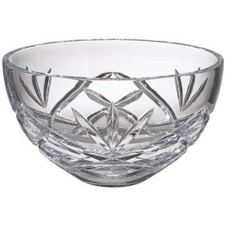 "Kathy Ireland Royal Wailea 10"" Etched Crystal Bowl"