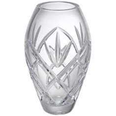"Kathy Ireland Royal Wailea 8 1/2"" High Crystal Vase"