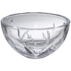 "Kathy Ireland Tranquility 6"" Wide Crystal Bowl"