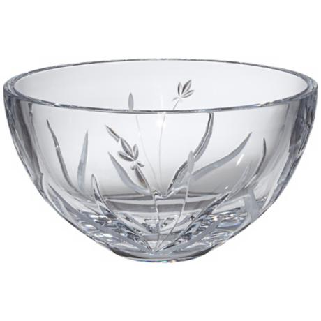 "Kathy Ireland Tranquility 10"" Wide Crystal Bowl"