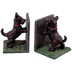 Shropshire Black Cast Iron Scottie Dog Bookends