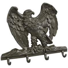 Americana Black Cast Iron Eagle Wall Hook
