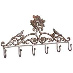 Amelia Rust Finish Cast Iron Coat Rack