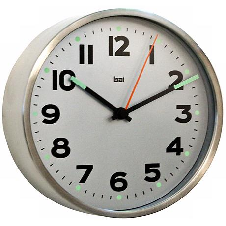 "Helio 6"" Wide White Modern Wall Clock"