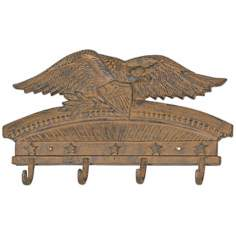 Americana Eagle Cast Iron Rust Finish Coat Rack
