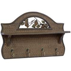 Summerland Wicker Shelf Hat Rack