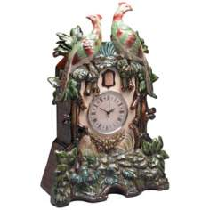 "Danube 22 1/2"" High Porcelain Bird Clock"