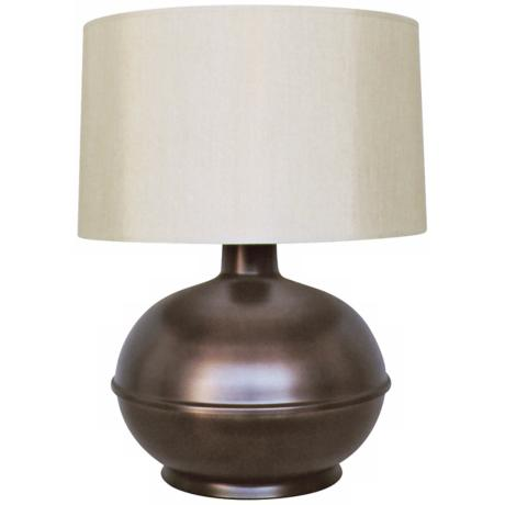 Babette Holland Orb Charcoal Round Modern Table Lamp