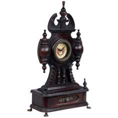 "Frontenac 25"" High Antique Wood Mantel Clock"