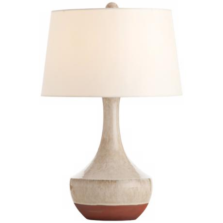 Arteriors Home Tavia Terracotta Oak White Table Lamp