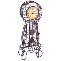 "Piola Metal 21"" High Wire Case Clock"