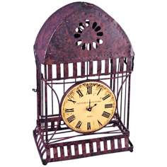 "Campagna Cast Iron 14"" High Wire Case Clock"