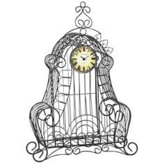 "Nesta Cast Iron 29 1/2"" High Wire Case Clock"