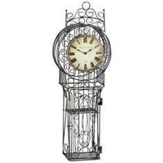 "Nesta Cast Iron 34"" High Wire Frame Clock"