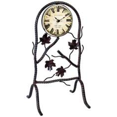 "Daphne Black 17"" High Wrought Iron Clock"