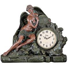 Marceline Large Angel Mantel Clock