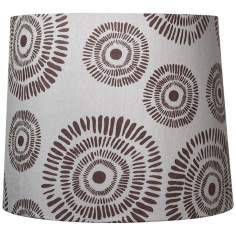 Dark Brown Circle Design Drum Shade 12x13.5x11 (Spider)