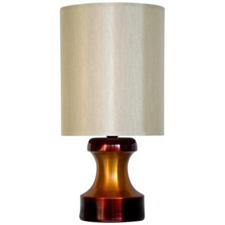 Babette Holland Pawn Two-Tone Rust Modern Table Lamp