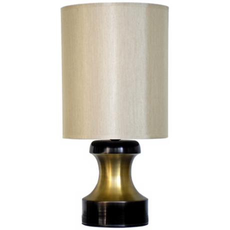 Babette Holland Pawn Two-Tone Gold Modern Table Lamp