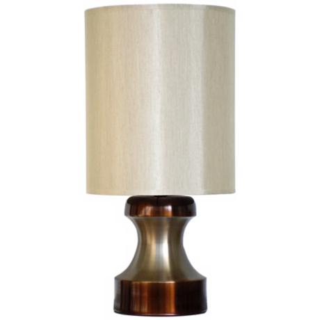 Babette Holland Pawn Two-Tone Mocha Modern Table Lamp