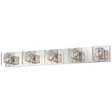 "Possini Euro Wrapped Wire 39"" Wide Bathroom Light"