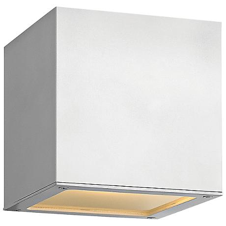 "Hinkley Kube Up-Down 6"" High Satin White Wall Light"