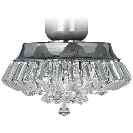 Deco Crystal Chrome Universal Ceiling Fan Light Kit