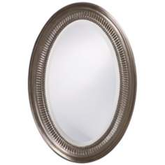 "Howard Elliott Ethan 31"" High Oval Wall Mirror"