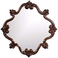"Howard Elliott Oliver 36"" High Copper Wall Mirror"