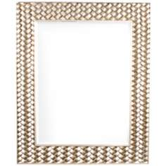 "Howard Elliott Cabrera 44"" High Silver Wall Mirror"