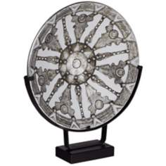 Round Decorative Plate on Stand