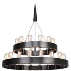 "Rico Espinet Candelaria 35"" Wide 30-Light Bronze Chandelier"
