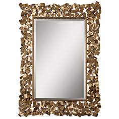 "Uttermost Capulin 53 1/2"" High Welded Metal Wall Mirror"