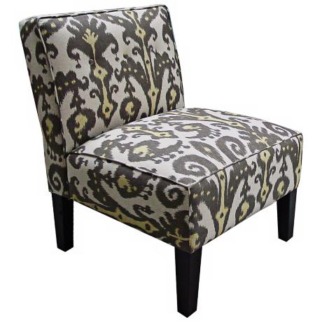 Marrakesh Girrafite Yellow And Brown Accent Chair