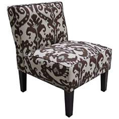 Marrakesh Cobblestone Brown And Blue Accent Chair