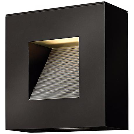 "Hinkley Luna 9"" Wide Satin Black Outdoor Wall Light"