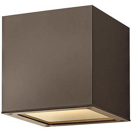 "Hinkley Kube Up-Down 6"" High Bronze Wall Light"