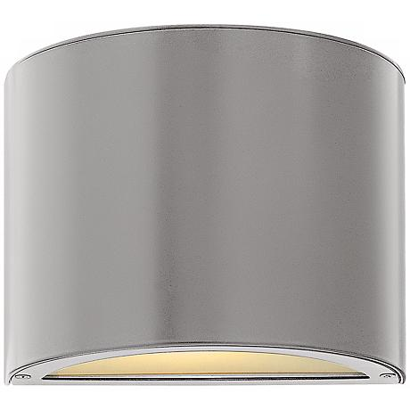 "Hinkley Luna Up-Down 9"" Wide Titanium Outdoor Wall Light"