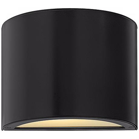 "Hinkley Luna Down 9"" Wide Satin Black Outdoor Wall Light"