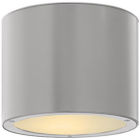 "Hinkley Luna Circle 8"" Wide Titanium Outdoor Ceiling Light"