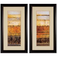 Set of 2 Natures I/II Framed Abstract Wall Art Prints