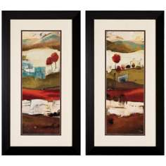 Set of 2 Countryside I/II Framed Landscape Art Prints