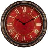 "Uttermost Chevalier 27 1/2"" Wide Antique Red Wall Clock"