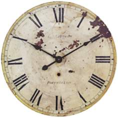 "Uttermost Portobello 22 1/2"" Wide Antiqued Gold Wall Clock"