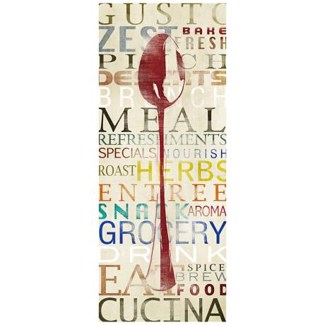 "Spoon Contemporary 20"" High Kitchen Art Print"